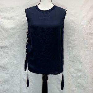Vince Size 4. Navy Blue Sleeveless Top.